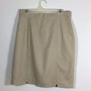 Apart Beige Lined Pencil Skirt Size 16